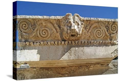 Head of a Lion, Letoon, Turkey--Stretched Canvas Print