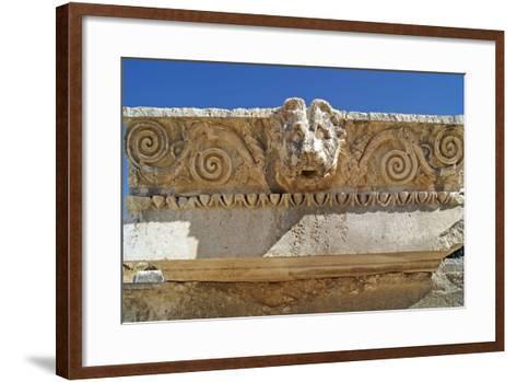 Head of a Lion, Letoon, Turkey--Framed Art Print