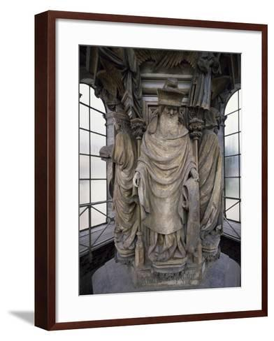 15th Century Sculptures, Detail from Interior of Calvary of Certosa, France-Clement Mere-Framed Art Print