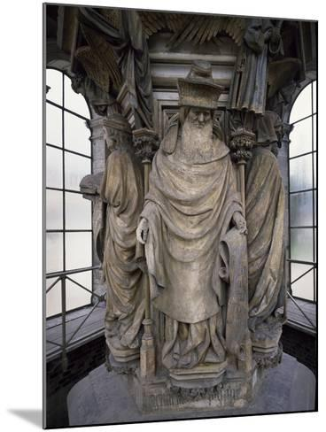 15th Century Sculptures, Detail from Interior of Calvary of Certosa, France-Clement Mere-Mounted Giclee Print