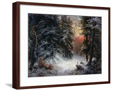 Snow Scene in the Black Forest-Carl Schindler-Framed Art Print