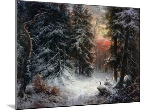 Snow Scene in the Black Forest-Carl Schindler-Mounted Giclee Print