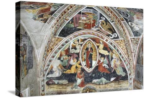 France, La Brigue, Notre-Dame Des Fontaines Chapel, Virgin and Saints, 1452-Giovanni Battista Ernesto Basile-Stretched Canvas Print