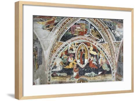 France, La Brigue, Notre-Dame Des Fontaines Chapel, Virgin and Saints, 1452-Giovanni Battista Ernesto Basile-Framed Art Print