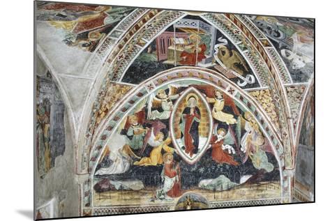 France, La Brigue, Notre-Dame Des Fontaines Chapel, Virgin and Saints, 1452-Giovanni Battista Ernesto Basile-Mounted Giclee Print