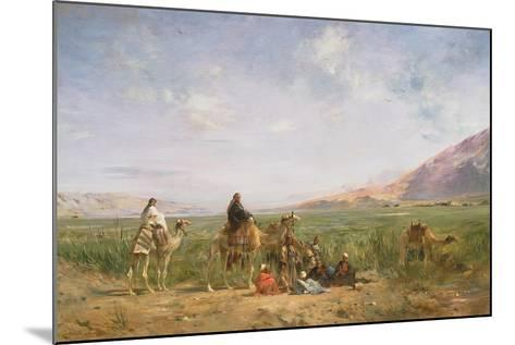 Travellers Resting at an Oasis-Eugene Lami-Mounted Giclee Print