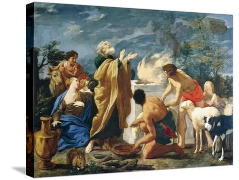 The Thanksgiving of Noah, 1639-1709-Giovanni Battista Lusieri-Stretched Canvas Print