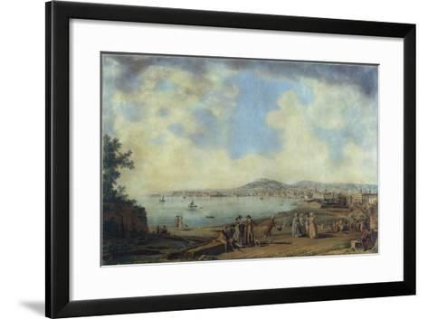 Naples from Magdalene Bridge, 1791-Giovanni Battista Pittoni the Younger-Framed Art Print