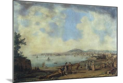 Naples from Magdalene Bridge, 1791-Giovanni Battista Pittoni the Younger-Mounted Giclee Print