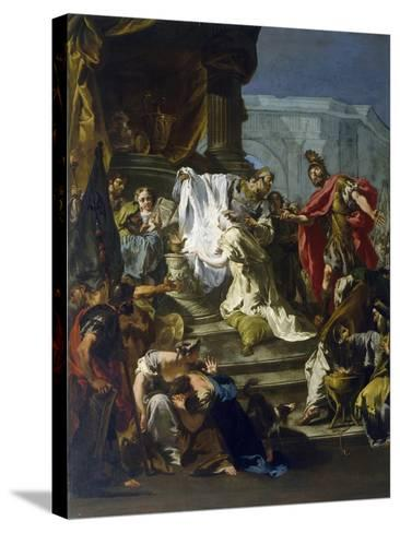 Sacrifice of Jephthah's Daughter-Giovanni Battista Riccardi-Stretched Canvas Print