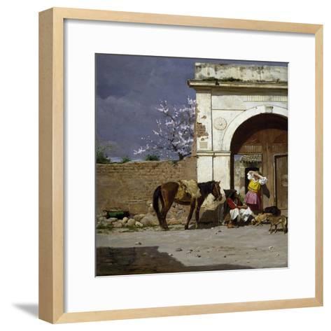 Stop in Sardinia-Giovanni Battista Tiepolo-Framed Art Print
