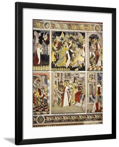 Betrayal of Jesus Christ and Jesus before Pilate, 1491-Giovanni Canavesio-Framed Art Print