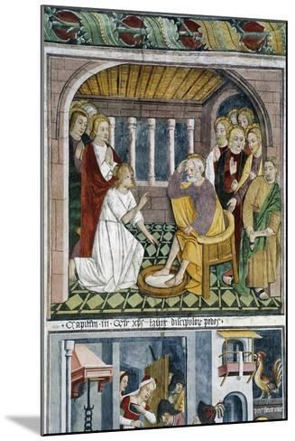 France, La Brigue, Notre-Dame Des Fontaines Chapel, Jesus Washing Apostles' Feet, 1491-Giovanni Canavesio-Mounted Giclee Print