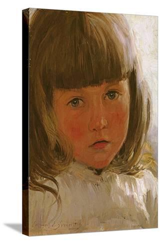 Study of a Young Girl-Edward Killingworth Johnson-Stretched Canvas Print