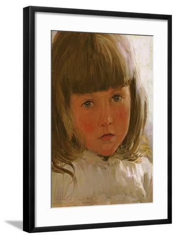 Study of a Young Girl-Edward Killingworth Johnson-Framed Art Print