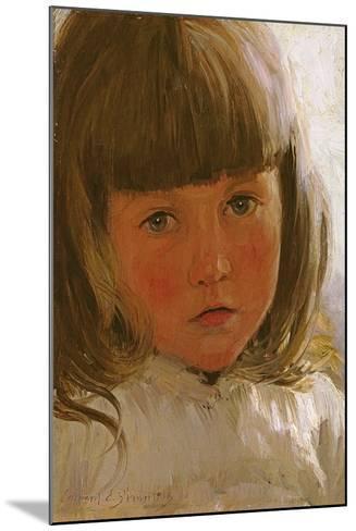 Study of a Young Girl-Edward Killingworth Johnson-Mounted Giclee Print