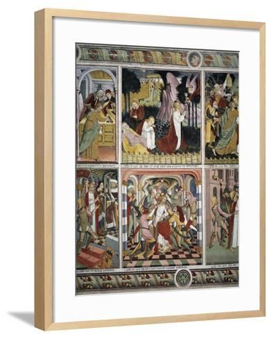 Christ's Agony in Gethsemane and Jesus Being Insulted by Pilate's Soldiers-Giovanni Canavesio-Framed Art Print