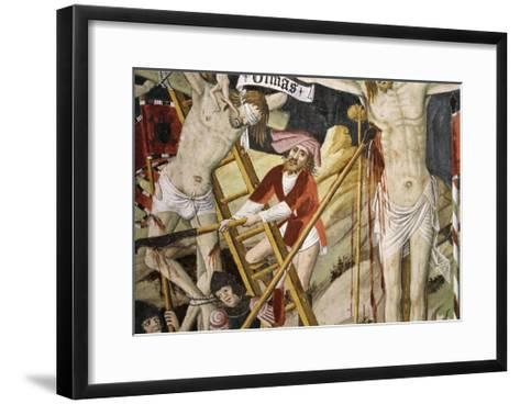 France, La Brigue, Notre-Dame Des Fontaines Chapel, Detail from Death of Jesus, 1491-Giovanni Canavesio-Framed Art Print