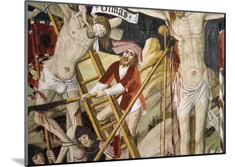 France, La Brigue, Notre-Dame Des Fontaines Chapel, Detail from Death of Jesus, 1491-Giovanni Canavesio-Mounted Giclee Print