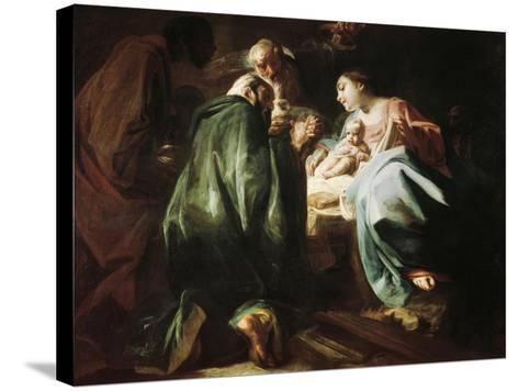 Adoration of the Magi-Federico Faruffini-Stretched Canvas Print