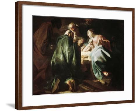 Adoration of the Magi-Federico Faruffini-Framed Art Print