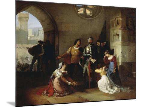 Peter Rossi, Imprisoned by the Scaligeri, 1818-1820-Francesco Hayez-Mounted Giclee Print