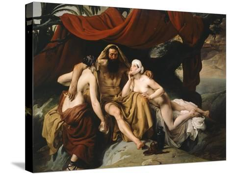 Loth and His Daughters, 1833-Francesco Hayez-Stretched Canvas Print