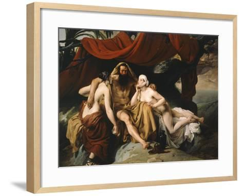 Loth and His Daughters, 1833-Francesco Hayez-Framed Art Print