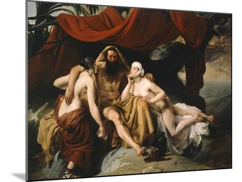 Loth and His Daughters, 1833-Francesco Hayez-Mounted Giclee Print