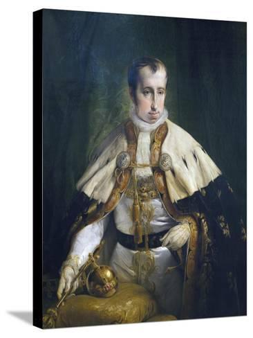 Portrait of Ferdinand I of Austria-Francesco Laurana-Stretched Canvas Print