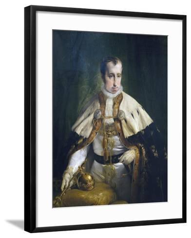 Portrait of Ferdinand I of Austria-Francesco Laurana-Framed Art Print