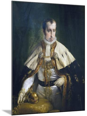 Portrait of Ferdinand I of Austria-Francesco Laurana-Mounted Giclee Print