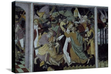 France, La Brigue, Notre-Dame Des Fontaines Chapel, Betrayal of Jesus Christ, 1491-Giovanni Cerruti-Stretched Canvas Print