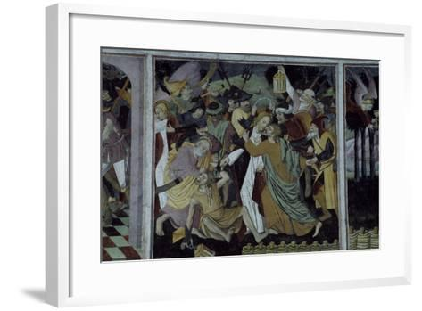 France, La Brigue, Notre-Dame Des Fontaines Chapel, Betrayal of Jesus Christ, 1491-Giovanni Cerruti-Framed Art Print