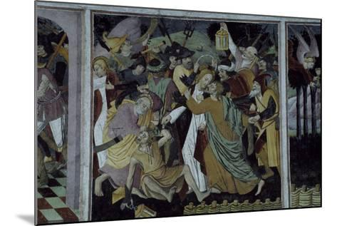 France, La Brigue, Notre-Dame Des Fontaines Chapel, Betrayal of Jesus Christ, 1491-Giovanni Cerruti-Mounted Giclee Print