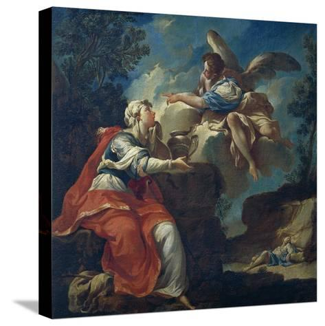 Angel Comforts Hagar in Desert-Francesco Mosso-Stretched Canvas Print