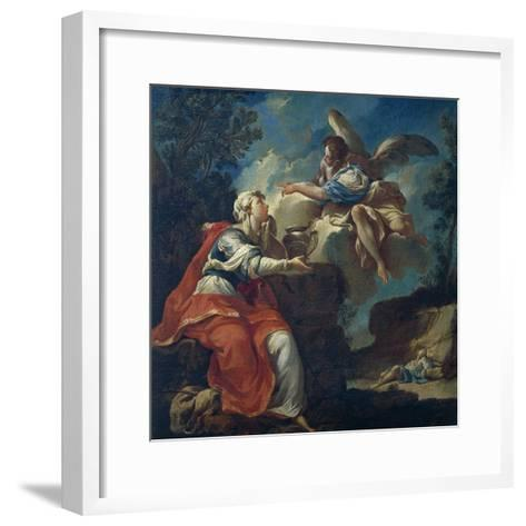 Angel Comforts Hagar in Desert-Francesco Mosso-Framed Art Print