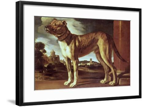 Portrait of a Dog-Guglielmo Ciardi-Framed Art Print