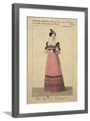 Portrait of Giuseppina Ronzi De Begnis in the Role of Rosina in 'The Barber of Seville'-Giorgio Berti-Framed Art Print