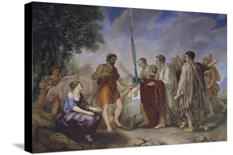 Cincinnatus Receiving the Roman Senate-Giorgio Sideri-Stretched Canvas Print