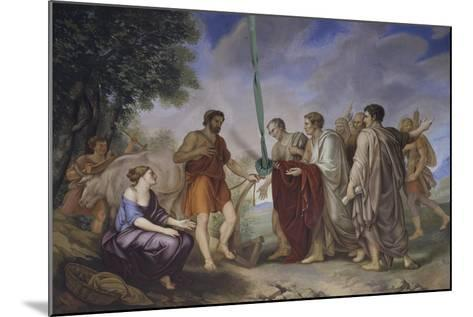 Cincinnatus Receiving the Roman Senate-Giorgio Sideri-Mounted Giclee Print
