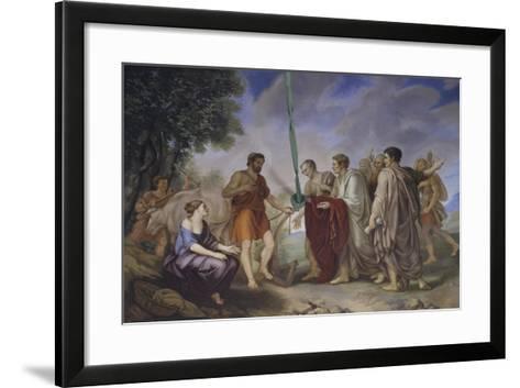 Cincinnatus Receiving the Roman Senate-Giorgio Sideri-Framed Art Print