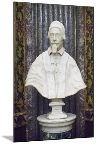 Marble Bust of Pope Alexander VII Chigi-Giuseppe Mengoni-Mounted Giclee Print