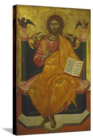 Christ on the Throne, Icon-Emmy Thornam-Stretched Canvas Print