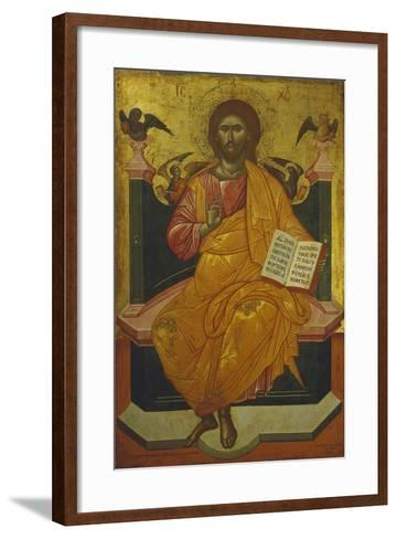 Christ on the Throne, Icon-Emmy Thornam-Framed Art Print