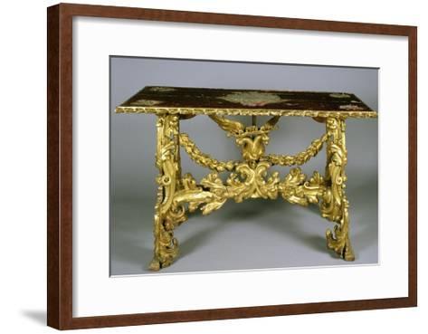 Carved and Gilt Wood Table, 1696-Francesco Podesti-Framed Art Print