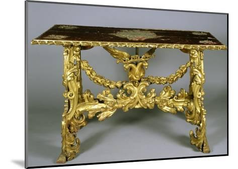 Carved and Gilt Wood Table, 1696-Francesco Podesti-Mounted Giclee Print
