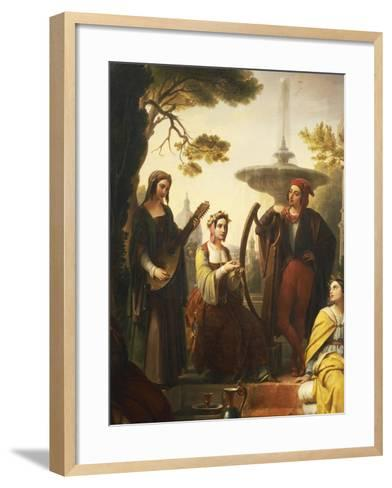 The Storytellers of the Decameron, 1851-Francesco Polazzo-Framed Art Print