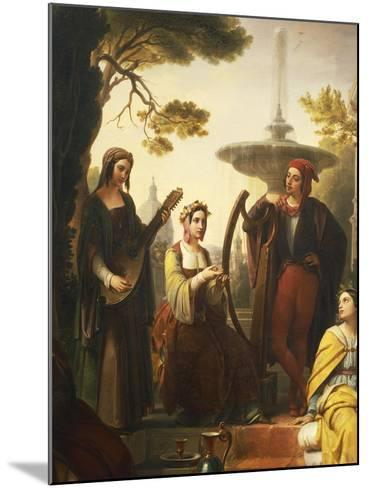 The Storytellers of the Decameron, 1851-Francesco Polazzo-Mounted Giclee Print