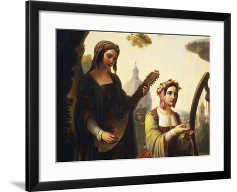 The Storytellers of the Decameron, 1851-Francesco Primaticcio-Framed Art Print